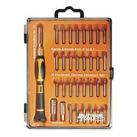 Show details of Extending Handle Screwdriver Set, 33 Pieces.