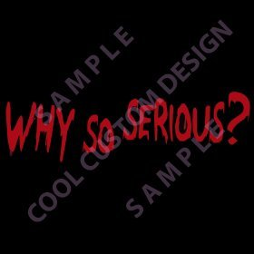 Show details of WHY SO SERIOUS? Window Decal - Red.