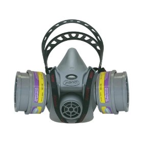 Show details of AO Safety 95090 Quicklatch PRO Dual Cartridge Respirator.