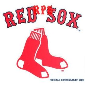 Show details of Boston Red Sox 3 x 3 Static Cling Decal.