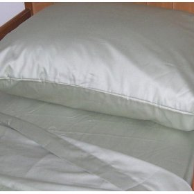 Show details of Short Queen 60X75 RV and Camper Sheet Set 100% Cotton, 300 thread count Color: Sage Green.