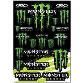 Show details of Factory Effex Sponsor Sticker Kit - --/Monster.