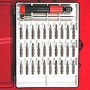 Show details of Anytime Tools 32 pc MICRO PRECISION SCREWDRIVER SET w/ T4 T5 T6 Mini Torx, Hex, Flat, Pozi.