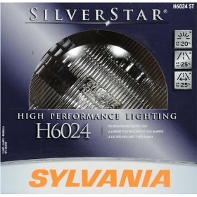 Show details of Sylvania H6024ST SilverStar High Performance Halogen Headlight Bulb.
