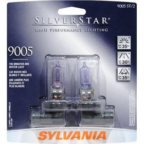 Show details of Sylvania 9005ST BP 8 Twin SilverStar High Performance Halogen Headlight Bulb.