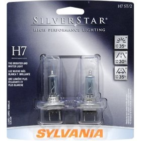 Show details of Sylvania H7ST 12V55W SilverStar High Performance Halogen Headlight Bulb BP 8 Twin.