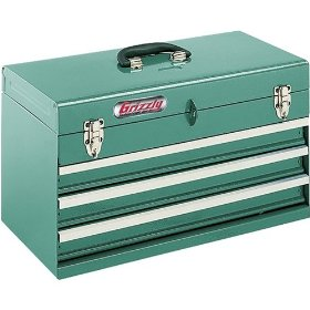 Show details of Grizzly H0844 3 Drawer Portable Tool Chest.