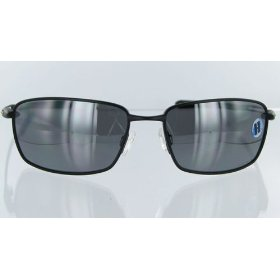 Show details of 12-913 - Oakley Nanowire 4.0 Sunglasses Black Frame with Polarized Black Iridium Lens.