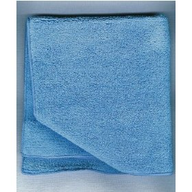 "Show details of 16""x16"" Blue REAL CLEAN All Purpose Plush Microfiber Bargain Towel."
