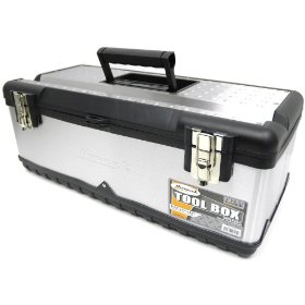 Show details of HOMAK SS00122500 23-Inch Stainless Steel Tool Box.