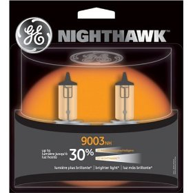 Show details of GE 9003NH/BP2 Nighthawk Automotive Replacement Bulbs - Pack of 2.