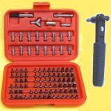 "Show details of Anytime Tools AT200430 101 Piece Tamper Proof/security Screwdriver Bits and 1/4"" Square/hex Reversible Mini Ratchet."