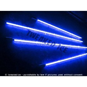 Show details of Blue Underglow Underbody 4 Pc Car Neon Kit Lights - Brand New - FREE SHIPPING.