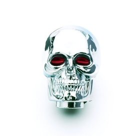Show details of Mr. Gasket 9628 Chrome-Plated Skull Shifter Knob.