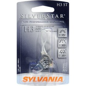 Show details of Sylvania H3ST SilverStar High Performance Halogen Headlight Bulb 12V55W 3 BP 6.