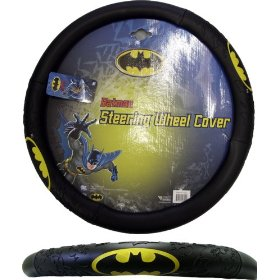 Show details of Batman Classic Logo Steering Wheel Cover.