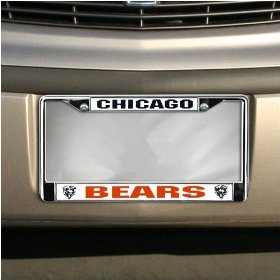 Show details of Chicago Bears NFL Chrome License Plate Frame.