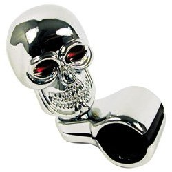 Show details of Chrome Skull Steering Wheel Spinner Knob.