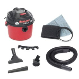 Show details of Shop-Vac 58602-04 2-1/2-Gallon 2-Horsepower Wet/Dry Vacuum.