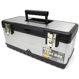 Show details of HOMAK SS00119800 20-Inch Stainless Steel Tool Box.
