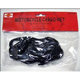 Show details of Motorcycle Bike BUNGEE CORD Cargo Net w/ 6 Hooks.