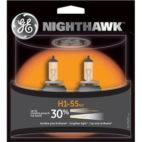 Show details of GE H1-55NH/BP2 Nighthawk Automotive Replacement Bulbs - Pack of 2.