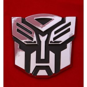 Show details of Transformers Autobot Car Chrome Badge Emblem 3D Logo.