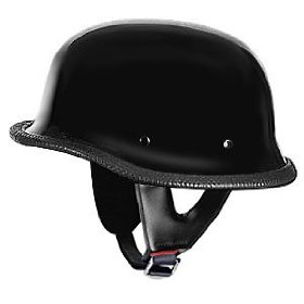 Show details of German Helmets DOT German Motorcycle Helmet 115Black in Size 2XL.