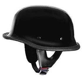 Show details of German Helmets DOT German Motorcycle Helmet 115Black in Size 2XL.