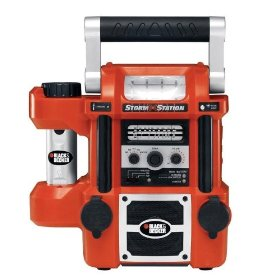 Show details of Black & Decker StormStation All-In-One Rechargeable Power Source/Radio/Light #SS925.