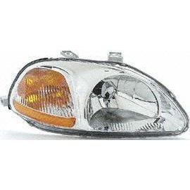 Show details of 96-98 HONDA CIVIC HEADLIGHT RH (PASSENGER SIDE), COMBO (1996 96 1997 97 1998 98) 20-3161-01 33101S01A01.