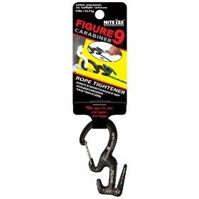 Show details of Nite Ize C9S-02-01 Small Figure 9 Carabiner, Black.
