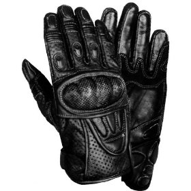 Show details of Men's Protective Padded Leather Racing Gloves - Size : Medium.