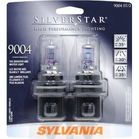 Show details of Sylvania 9004ST BP SilverStar High Performance Halogen Headlights, Pack of 2 Bulbs.