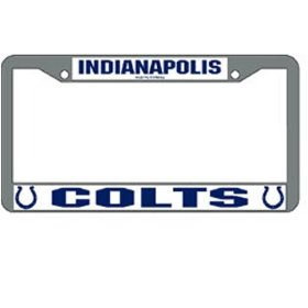 Show details of Indianapolis Colts NFL Chrome License Plate Frame.