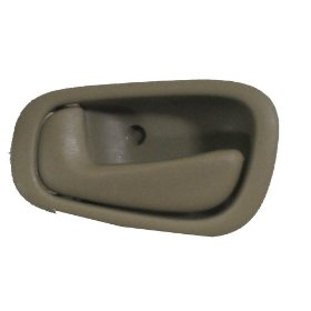 Show details of Toyota Corolla Door Handle New Left Driver Side Inside Tan/beige Fits 98 99 00 01 02.
