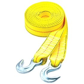 "Show details of Highland 10176 20' x 2"" Tow Strap with Hooks, 10,0 pound capacity."