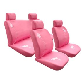 Show details of Free Upgrade Any Shipping Service to Priority Mail (Only Takes About 2-3days.) Univerisal Seat Cover Full Set Bloom Pink.