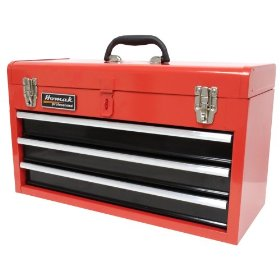 Show details of HOMAK RD01032101 3-Drawer Tool Box/Chest Red.