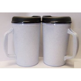 Show details of 2 Aladdin Foam Insulated Coffee Mug 20 oz - Granite.