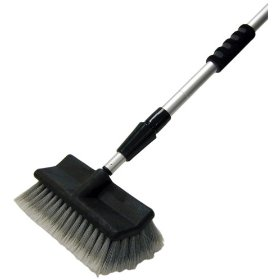 "Show details of Detailer's Choice 4B360 Tri-Level Flow-Thru Vehicle Wash Brush with 72"" Telescoping Handle."