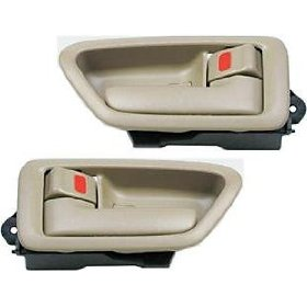 Show details of 97 98 99 00 01 Toyota Camry Inside Door Handle Pair Tan.