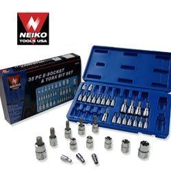 Show details of Neiko 35 PCS External Female Socket and Torx Bits Socket Tool Set.