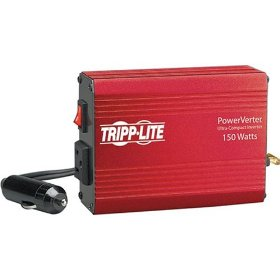 Show details of Tripp Lite PV150 PV 150W 12V DC to AC Portable Inverter with DC Auto Power Outlet.