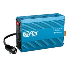 Show details of Tripp Lite PV375 PV 375W 12V DC to AC Portable Inverter with DC Auto Power Outlet.