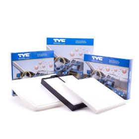 Show details of TYC Cabin Air Filter for ACURA RSX (2002-2006); HONDA Civic (2001-2005), CRV (2002-2006), Element (2003-2008).
