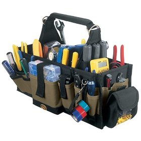 Show details of Custom LeatherCraft 1530 43-Pocket Electrical and Maintenance Tool Carrier.