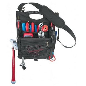 Show details of Custom LeatherCraft 1509 21-Pocket Zippered Professional Electricians Tool Pouch.