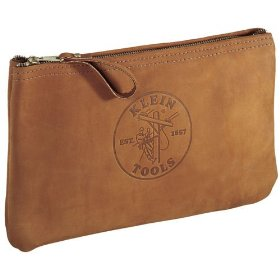 Show details of Klein Tools Leather Zipper Bag 5139L.