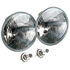 Show details of Hella Vision Plus Conversion Headlamp 7-inch round sealed beam headlamp replacement.